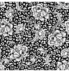 Eclectic fabric seamless pattern Animal vector image vector image