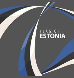 flag of estonia against a dark background vector image vector image