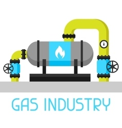 Gas heat exchanger in refinery Industrial vector image vector image