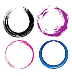 Grunge circle vector