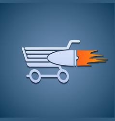 Icon shopping cart vector image vector image