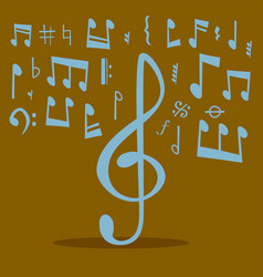 Notes music melody colorfull musician symbols vector