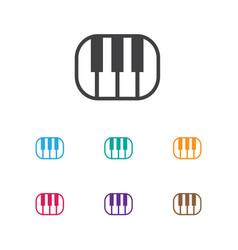 of media symbol on pianoforte vector image