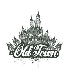 Old Town sketch artwork vector image