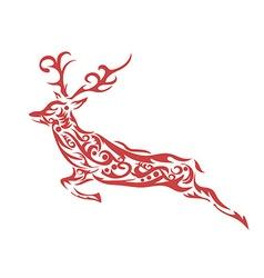 ornamental deer vector image