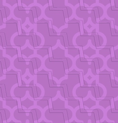 Retro 3d purple zigzag cut marrakech vector