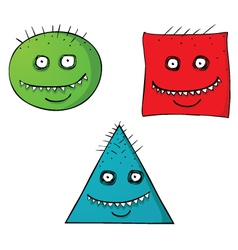 Scary shape faces vector