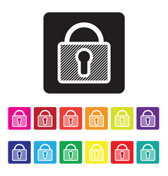 secure website icon set vector image