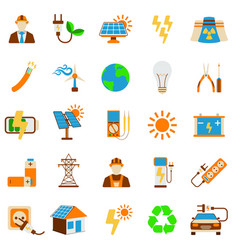 Set of solar energy icon 25 energy label for web vector