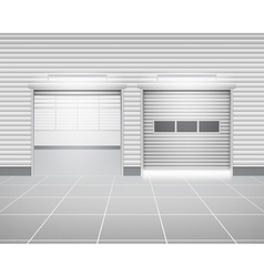 Shutter door factory vector