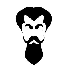 Silhouette hair eyebrows mustache and beard vector