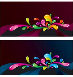 splashes on dark vector image vector image