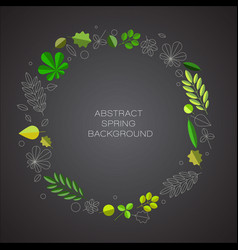 spring abstract floral background with place for vector image vector image