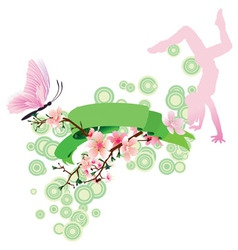 spring theme vector image