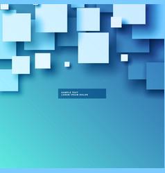Stylish 3d squares background design vector
