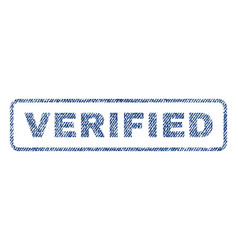 Verified textile stamp vector