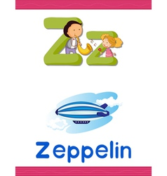 Learning alphabet z vector