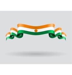 Niger wavy flag vector