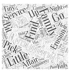Community service is a family affair word cloud vector