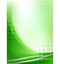 Abstract green flowing background vector