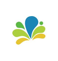 colorfull splash logo design vector image