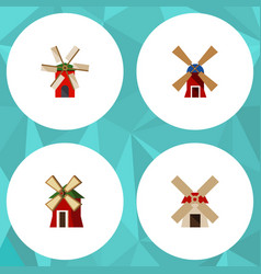 flat icon energy set of propeller wind energy vector image