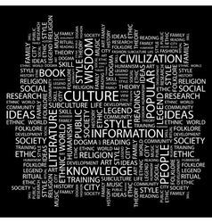Culture vector