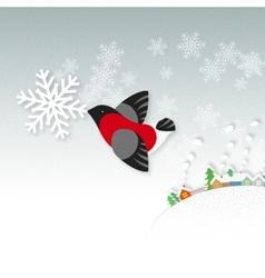 Snow bird vector image
