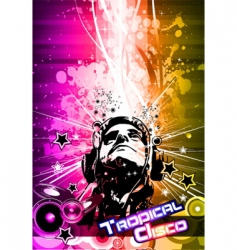 Disco flyer vector
