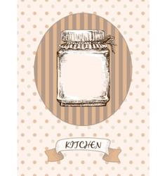 Kitchen design jar vector