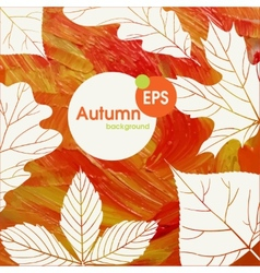 Magic autumn background vector