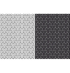 Isometric 3d seamless pattern background set vector image