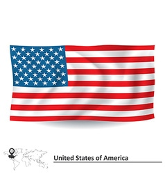 Flag of united states of america vector