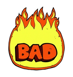 Comic cartoon bad sign vector