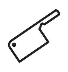 Meat cleaver vector