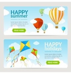 Summer Holiday Card Set vector image