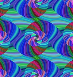 Abstract seamless fractal swirl pattern vector