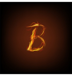 Alphabets flame vector image vector image
