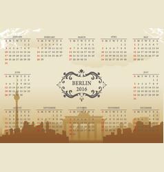 berlin calendar vector image vector image