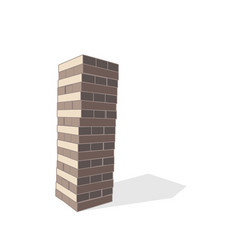 block tower game isolated on white background vector image vector image