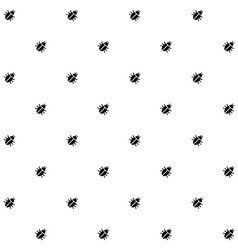 Bugs black and white seamless pattern texture vector image vector image
