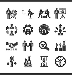 Business and financial Icons set vector image