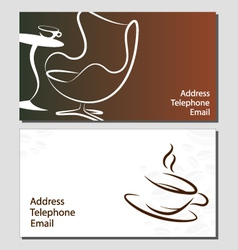 Business card coffee vector image vector image