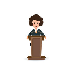 Business woman standing to speaking and vector