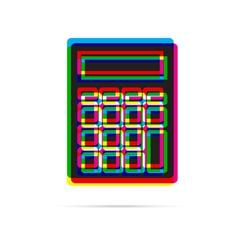Calculator icon with shadow vector
