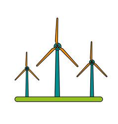 Color image wind turbine eolic energy vector