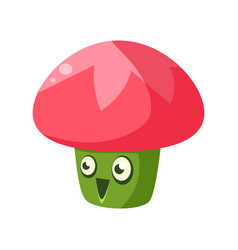 Cute fantastic plant character in the form of a vector