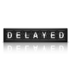 Delayed message vector image