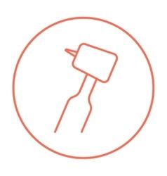 Dental drill line icon vector image vector image