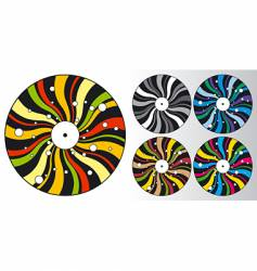 Disco plates vector